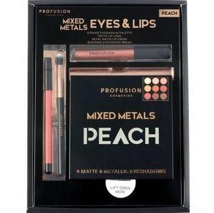 Set of 4 Profusion PEACH Mixed Metals Eyes & Lips